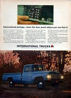 1964 International Harvester 1200 Pickup Truck Original Color Ad