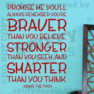 winnie the pooh wall quotes in Decals, Stickers & Vinyl Art