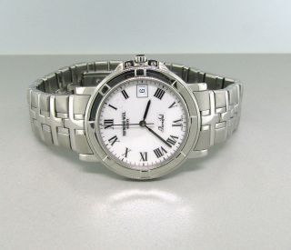 Raymond Weil Parsifal Mens White Dial Roman #s Swiss Quartz Watch