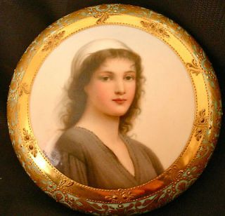 Royal Vienna Porcelain Box Ruth by Wagner, 1890s