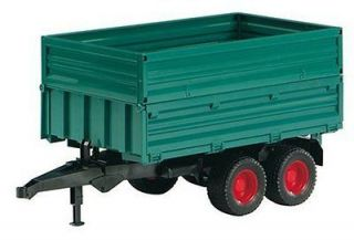 SCALE TANDEM AXLE TIPPING TRAILER WITH REMOVABLE TOP PLASTIC TOY NIB
