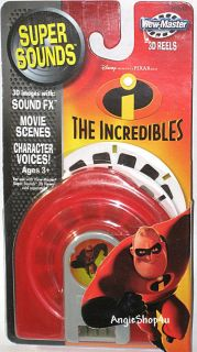 VIEW MASTER THE INCREDIBLES WITH SUPER SOUNDS 3D + 3 REELS Brand new