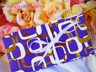 Gift Card Holders Purple Gold White Satin Bow Gifts wedding gift