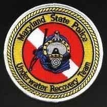 MARYLAND STATE POLICE DIVE RESCUE TEAM PATCH