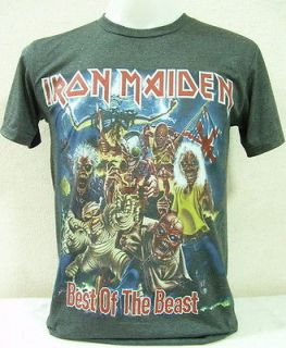 Iron Maiden Vtg. Rock Nice Cool Men Thin&Soft Elastic Jersey T Shirt