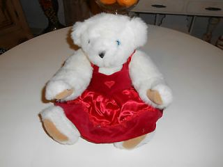 THE VERMONT TEDDY BEAR COMPANY VALENTINES TEDDY BEAR RED DRESS