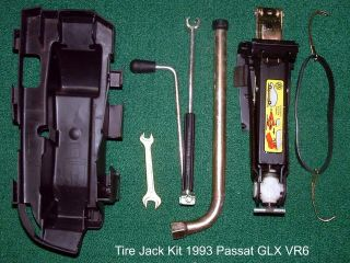 VW B3 Passat Spare Tire Jack Tool Kit 1990 1994 Lug Bolt Wrench