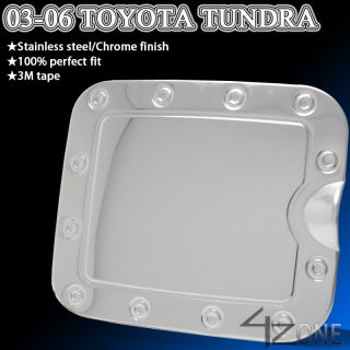 03 04 05 06 TOYOTA TUNDRA FUEL TANK GAS DOOR COVER BEZEL TRIM CHROME