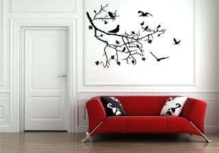 TREE BIRDS BRANCH WALL ART STICKER DECAL MURAL STENCIL VINYL PRINT