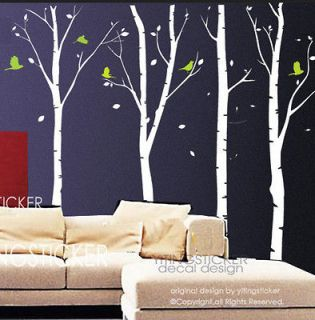 big birch trees wall decal art vinyl wall stickers decor