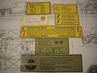 Porsche 914 engine stickers decals (peel & stick)