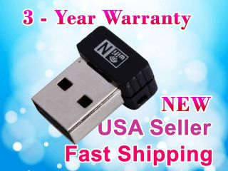 NEW Mini USB 2.0/1.1 WiFi Wireless N LAN Network Adapter IEEE 802.11n