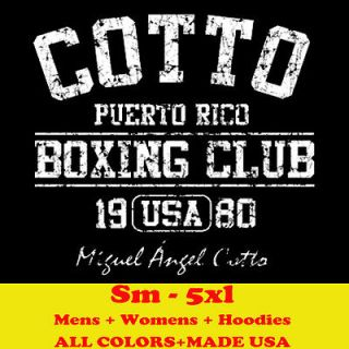 COTTO MIGUEL BOXING CLUB retro auto mma gloves puerto rico rican