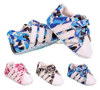 Baby Boys Girls Camouflage Sneakers Camo Crib Shoes Size Newborn to 18