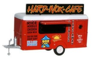 Oxford 76TR007 Hard Wok Cafe Chinese Food Mobile Trailer 1/76 New in