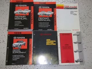 1998 Toyota TACOMA TRUCK Service Repair Shop Manual Set FACTORY BOOK