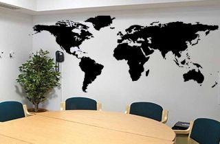 Global World Map Atlas Vinyl Wall Art Decal Sticker