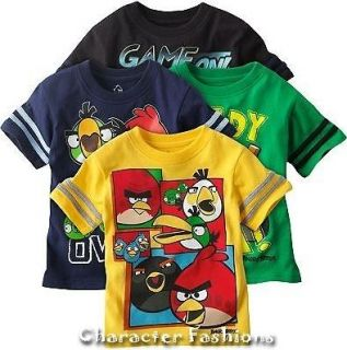 ANGRY BIRDS Shirt Tee Top Size 2T 3T 4T TODDLER Short Sleeve