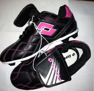 Lotto Girls Youth Soccer Cleats Shoes Pink Black size 2 NWOT. No