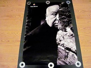 ALFRED HITCHCOCK 24 X 36 THINK DIFFERENT ORIGINAL APPLE COMPUTER
