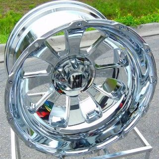 22X14 CHROME KMC XD ARMOUR WHEELS RIMS DODGE RAM 1500 BIG HORN 5X5.5