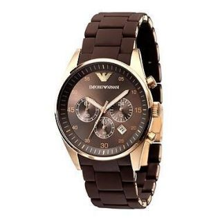 New EMPORIO ARMANI Mens Brown Chronograph Watch AR5890