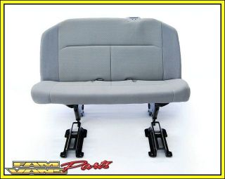 Ford Econoline Van Bench Seat 3 Person Grey Cloth 08 12 No Belts