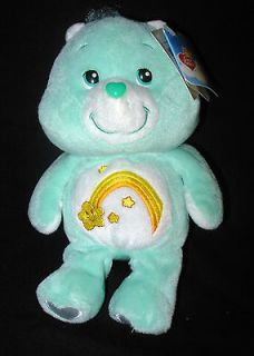 Wish Care Bear 20th Anniversary Plush Stuffed Animal Toy Tags Teal