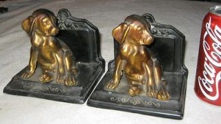 ANTIQUE RONSON ART STATUE SCULPTURE HOME GARDEN PUPPY DOG DESK BOOK