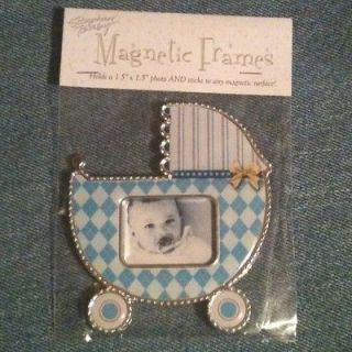 NEW Stephan Baby PINK Magnetic BABY CARRIAGE Picture FRAME Baby GIRL