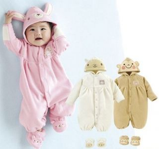 NWT Baby Toddler Fancy Party Costume Romper Outfit Sock Hood Rabbit