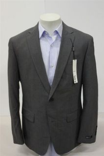 Bar III Medium Gray Wool Blend Striped Slim Fit Suit