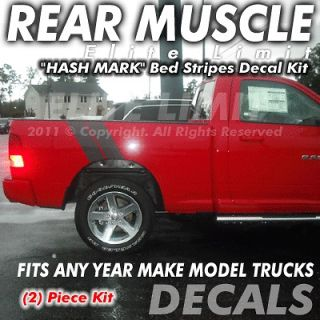 Bed Box HASH MARK MUSCLE Dodge Ram Truck Decals Stripes Stickers