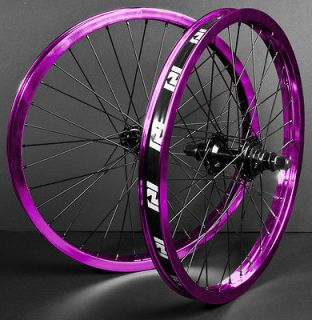 REVENGE COMPLETE WHEEL SET WHEELS PURPLE BLACK FRONT BACK 9 PROFILE