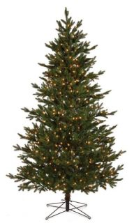 Pre Lit White Lights Norway Spruce Christmas Tree
