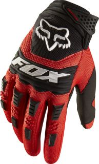 Fox Racing Adult Dirtpaw Gloves Red Motocross MX Atv Bmx Off Road MTB