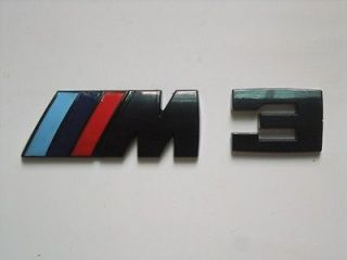 Logo Car Badge Sticker Emblem BMW M M3 M5 M6 X1 X3 X5 X6 Z4 M5 Black