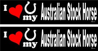 love my Australian Stock Horse trailer bumper stickers