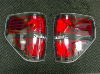 11 12 Ford F 150 F150 Harley Davidson Black Tail Lights Lamps (pair