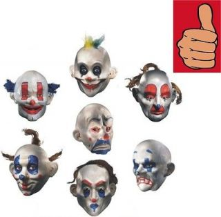 Batman   Joker Henchman Clown Mask   Set of 7   Adult Dark Knight