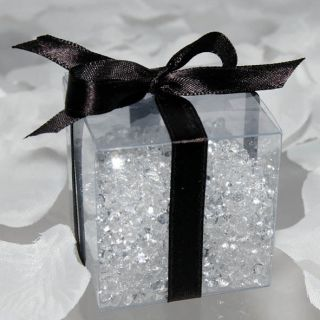 20 2.75x2.75x2.75 7x7x7cm 30C CLEAR FAVOR GIFT BOX WEDDING PARTY