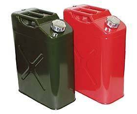 Jeep Red Gas Tank Jerry Can Metal Safety Gas Tank Crown (Fits Jeep)