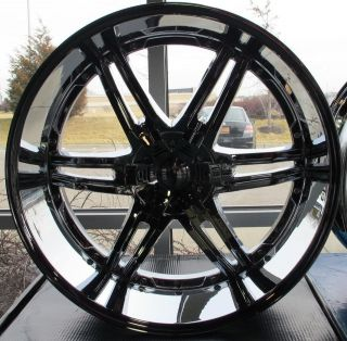 Set of 26x10 Giovanna Canelli Chrome 6x5.5/135 +30 Escalade Denali GMC