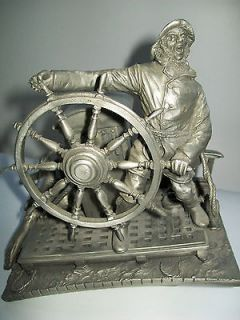 Into the Storm Fine Pewter 1985 The Franklin Mint 7 1/2 tall by 7 1/2