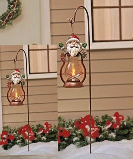 CHRISTMAS SOLAR LANTERN LIGHT STAKE OUTDOOR HOLIDAY LAWN DECORATION