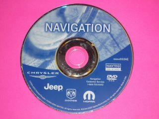 Jeep Dodge Chrysler Mopar GPS Navigation CD DVD Disc AE 2004 2005 Town