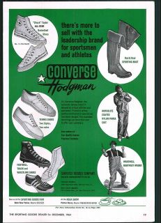 1964 ad Converse All Star Chuck Taylor Basketball Shoes Indian Head