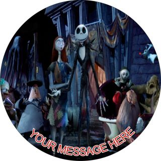 SHEET NIGHTMARE BEFORE CHRISTMAS Edible CAKE Image Icing Topper