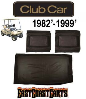 Club Car DS 1982 1999 Golf Cart (Black Vinyl) Seat Cover Set