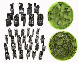 Number & Alphabet Letter Cake Decorating Cookie Cutter Sugarcraft Tool